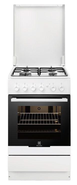 Газовая плита ELECTROLUX EKG51101OW,  газовая духовка,  белый
