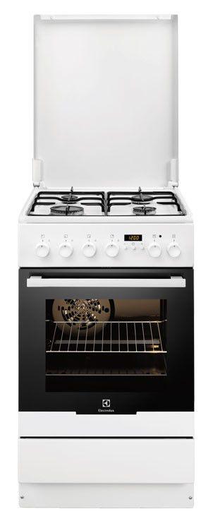 Газовая плита ELECTROLUX EKK54500OW,  электрическая духовка,  белый
