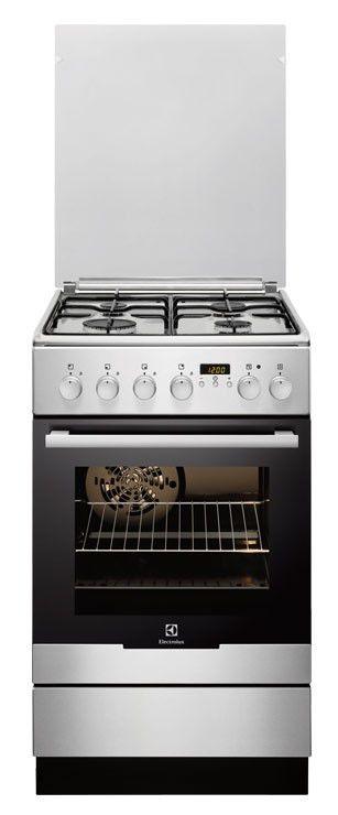 Газовая плита ELECTROLUX EKK54500OX,  электрическая духовка,  серебристый