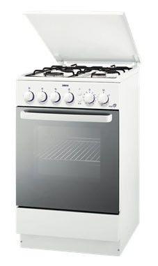 Газовая плита ZANUSSI ZCG565GW,  газовая духовка,  белый