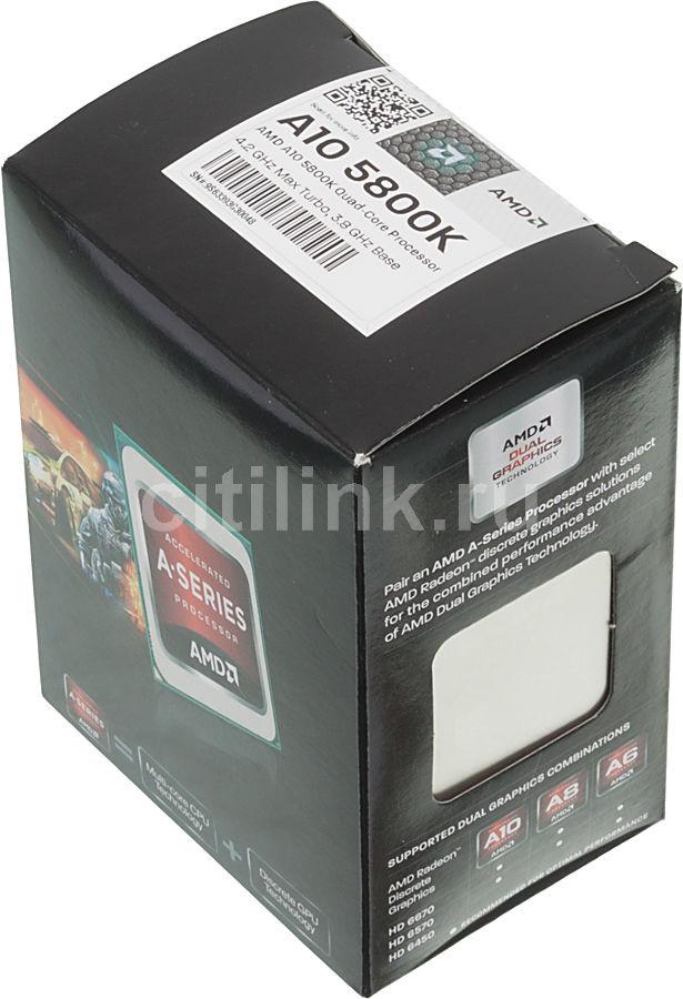 Процессор AMD A10 5800K, SocketFM2 BOX [ad580kwohjbox]