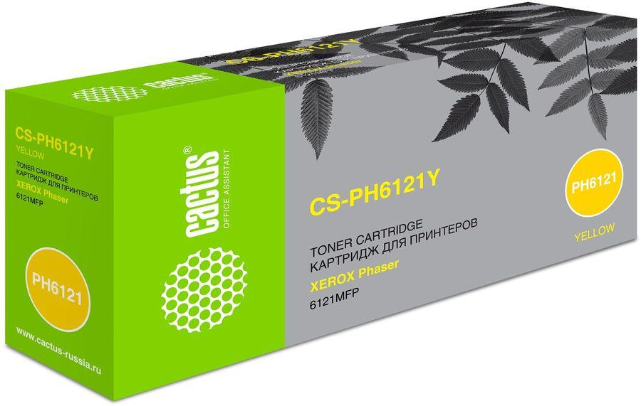 Картридж CACTUS CS-PH6121Y желтый