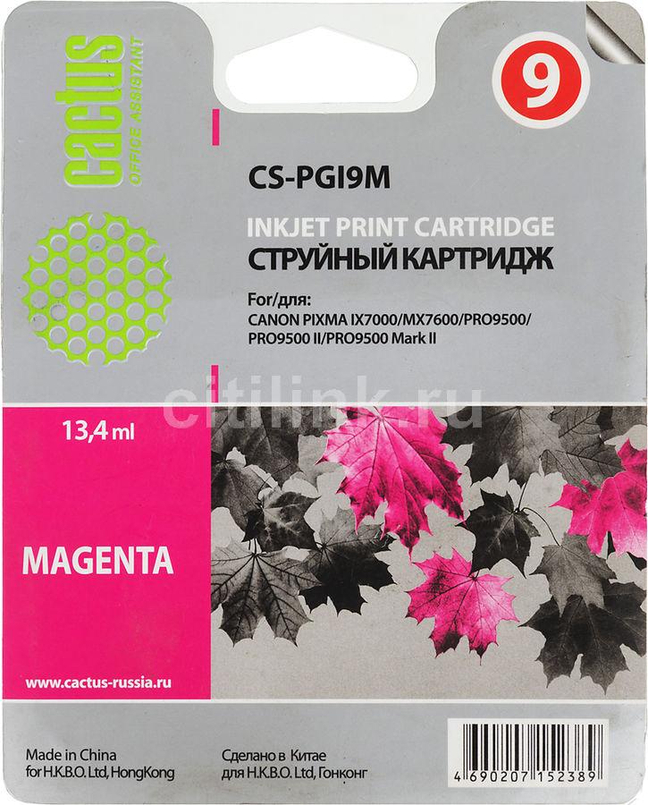 Картридж CACTUS CS-PGI9M пурпурный
