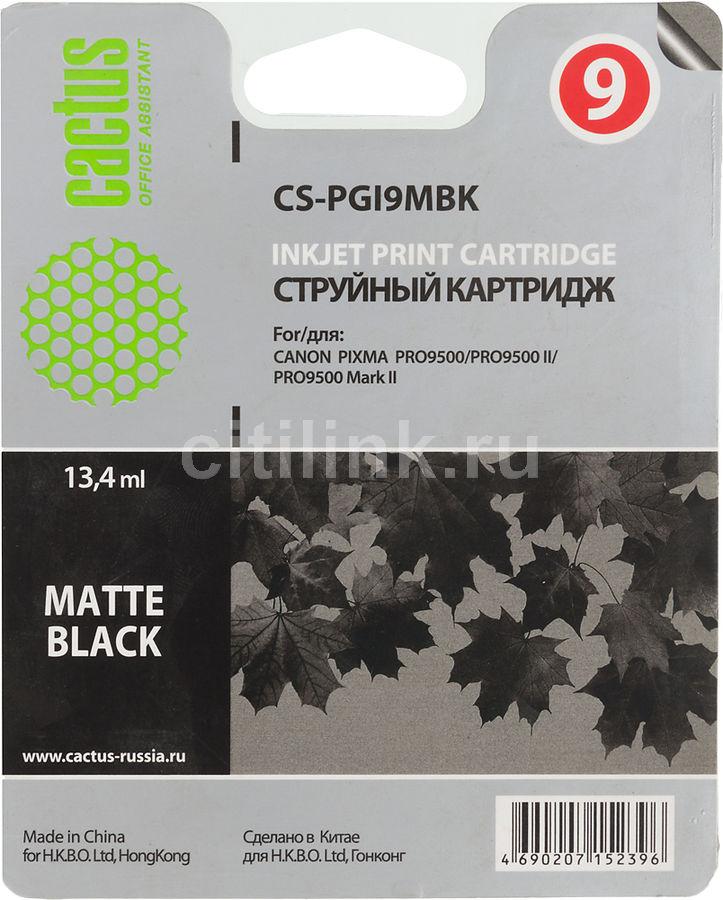 Картридж CACTUS CS-PGI9MBK черный матовый