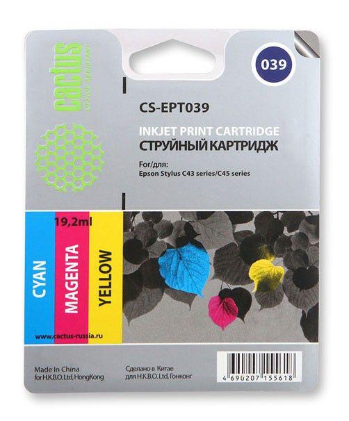Картридж CACTUS CS-EPT039 многоцветный