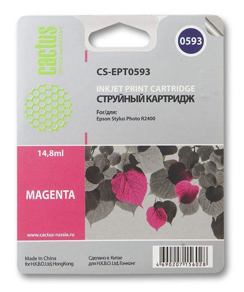Картридж CACTUS CS-EPT0593 пурпурный