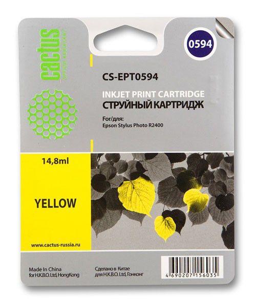 Картридж CACTUS CS-EPT0594 желтый
