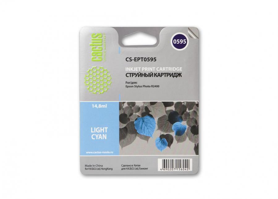 Картридж CACTUS CS-EPT0595 светло-голубой