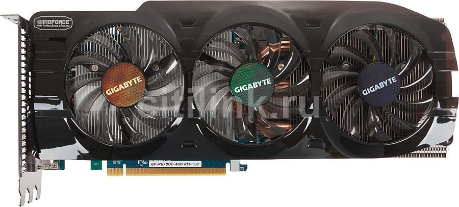 Видеокарта GIGABYTE nVidia  GeForce GTX 670 ,  4Гб, GDDR5, OC,  Ret [gv-n670oc-4gd]