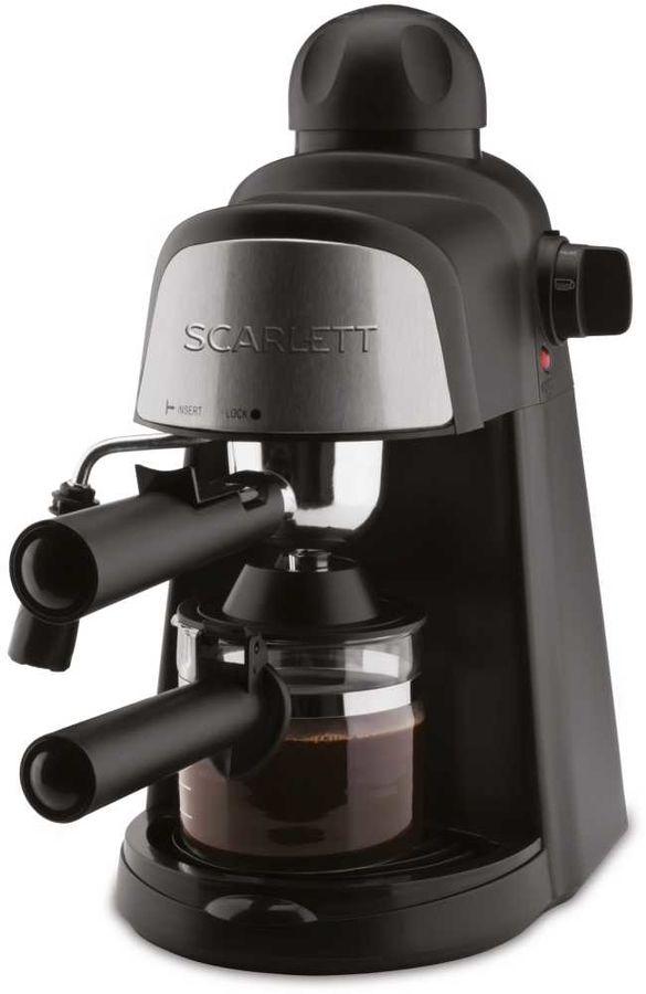 Кофеварка SCARLETT SC-037,  эспрессо,  черный  [sc037]
