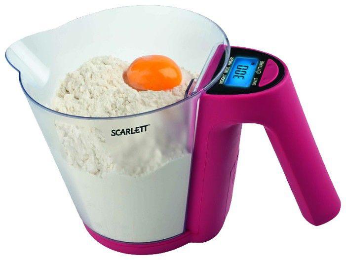 Весы кухонные SCARLETT SC-1214,  фиолетовый