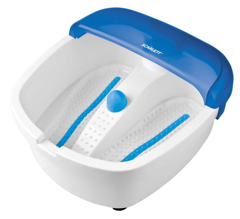 Гидромассажная ванночка для ног SCARLETT SC-207,  белый,  синий