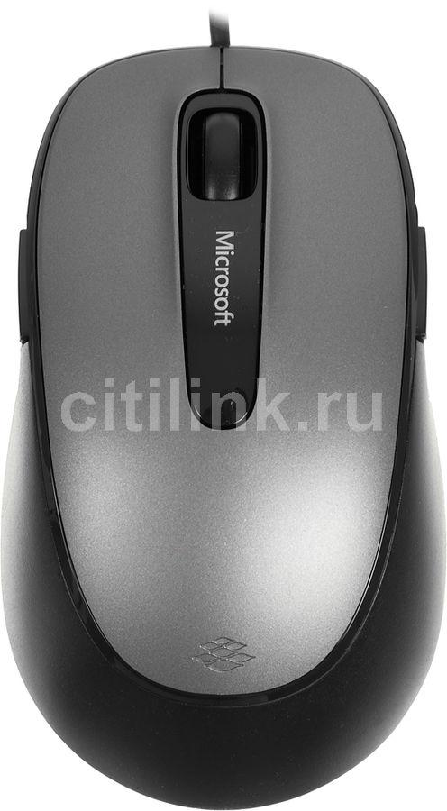 Мышь MICROSOFT Comfort 4500, оптическая, проводная, USB, серый и черный [4fd-00024]
