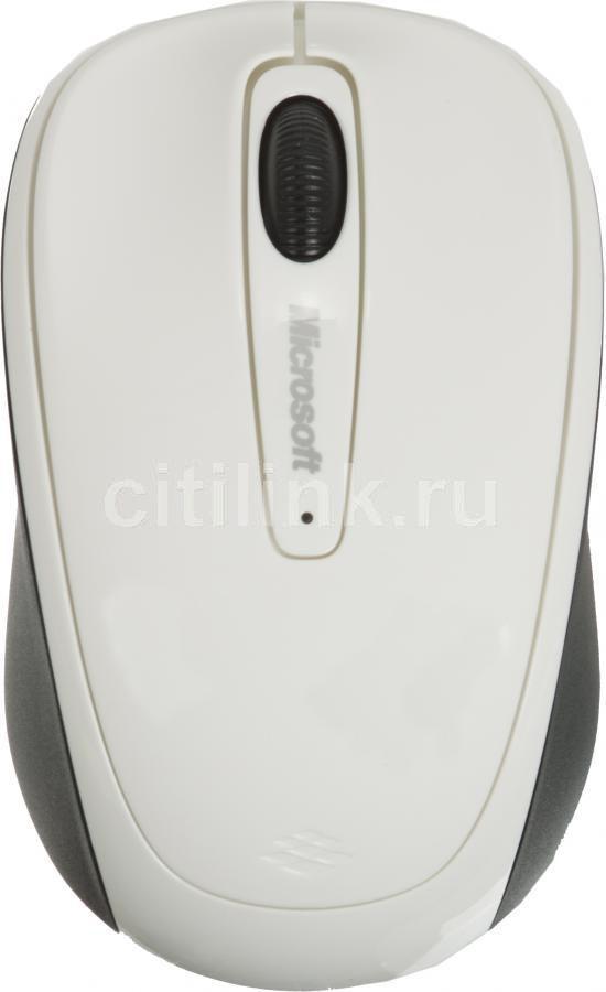 Мышь MICROSOFT 3500 оптическая беспроводная USB, белый [gmf-00294]