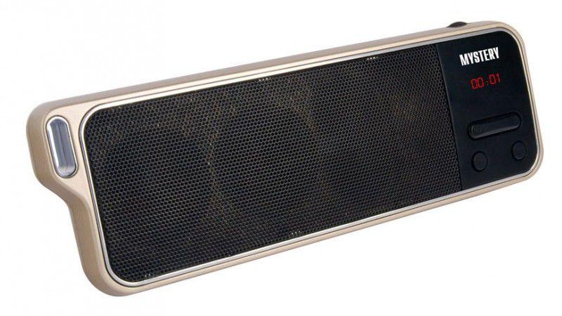 Аудиомагнитола MYSTERY MSP-115,  серебристый и черный