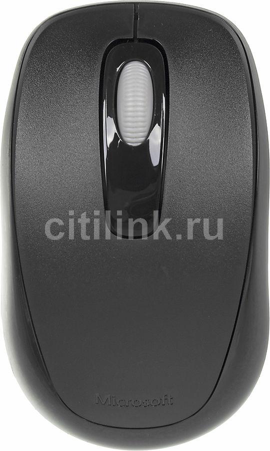 Мышь MICROSOFT 1000 оптическая беспроводная USB, черный [2cf-00047]