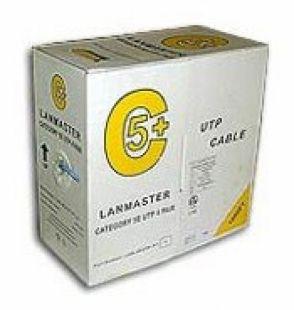Кабель информ. Lanmaster (LAN-5EUTP-GN) кат.5е U/UTP 4X2X24AWG PVC внутр. 305м зел.