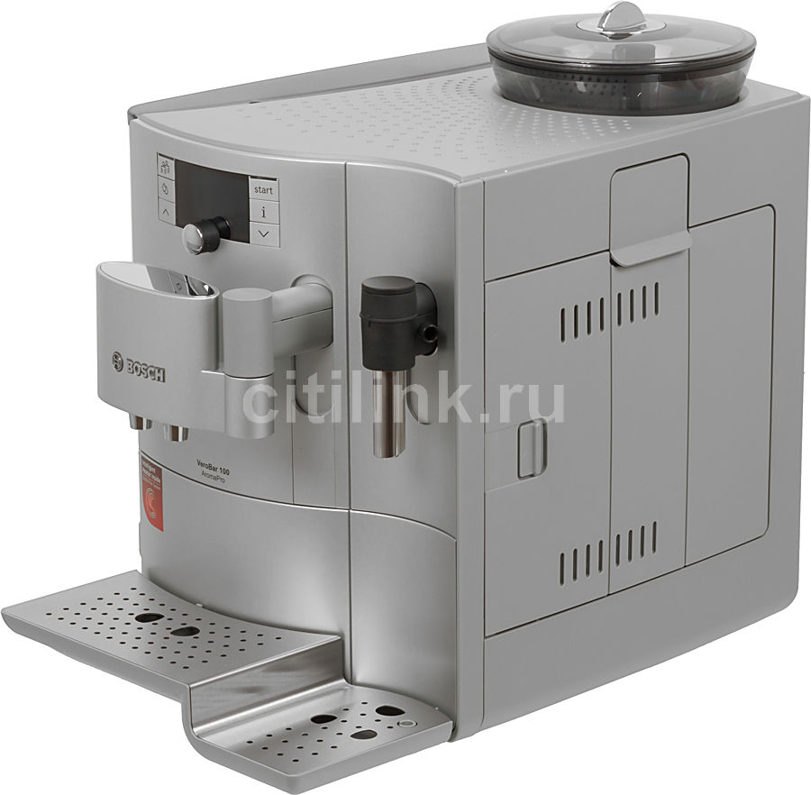 Кофемашина BOSCH VeroBar AromaPro 300 TES71121RW,  серебристый