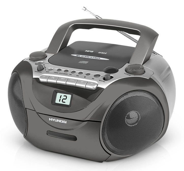 Аудиомагнитола HYUNDAI H-1402,  темно-серый