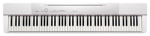 Цифровое фортепиано CASIO PX-150WE, 88, полновзвешенная, полноразмерные, 128, белый