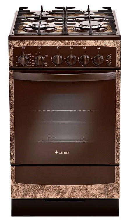 Газовая плита GEFEST ПГ 3500 К19,  газовая духовка,  коричневый