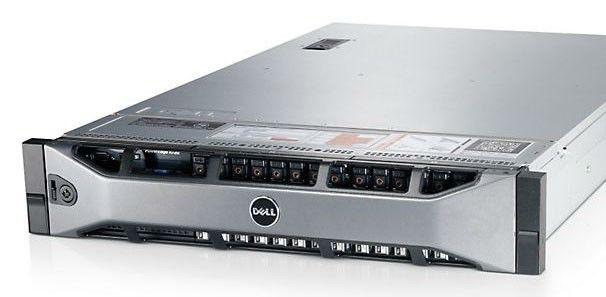 Сервер Dell PE R720 2xE5-2640 2.5/48(6x8 2R RD 1.6)/x8 SAS 2x300 15K 3.5