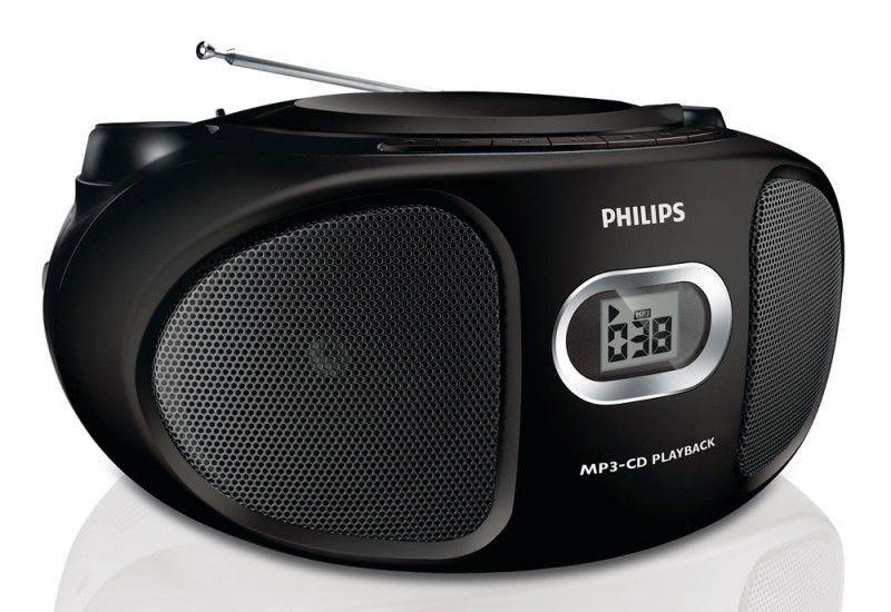 Аудиомагнитола PHILIPS AZ305/12,  черный
