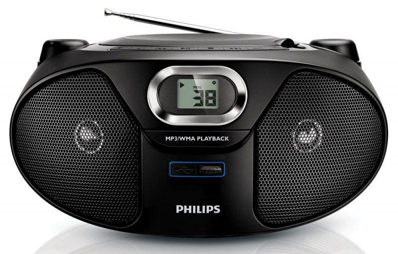 Аудиомагнитола PHILIPS AZ-385/12,  черный