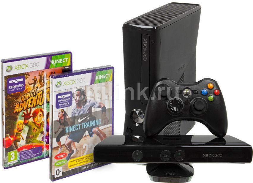 Игровая консоль MICROSOFT Xbox 360 S4G-00176, черный