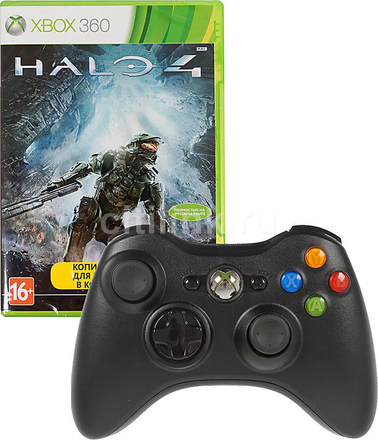 Беспроводной контроллер MICROSOFT (GTA-00146), для  Xbox 360, черный