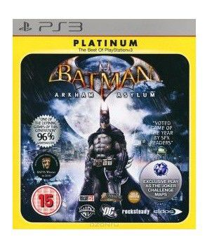 Игра SONY Batman Arkham Asylum. Game of the Year Edition (Platinum) для  PlayStation3 Rus (документация)