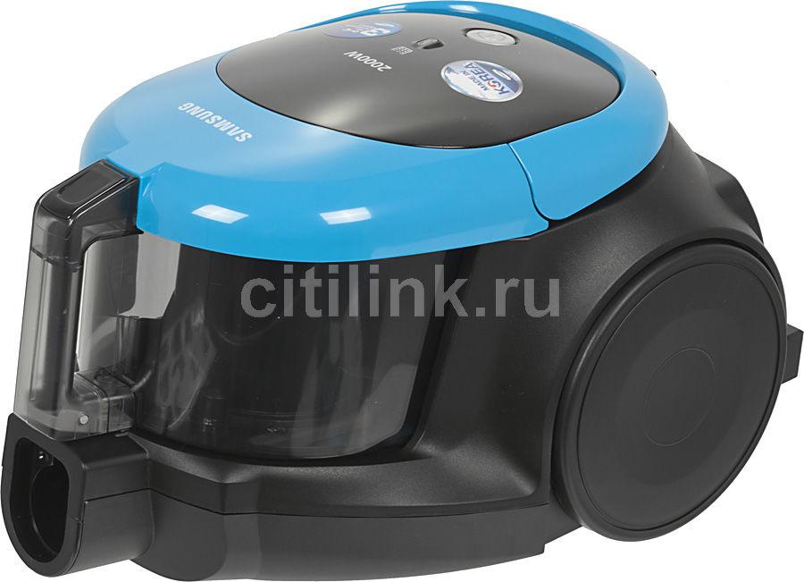 Пылесос SAMSUNG SC4471, 2000Вт, черный/голубой