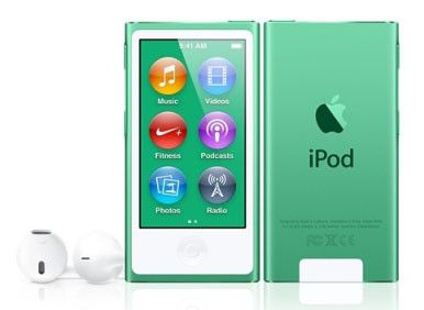 MP3 плеер APPLE iPod nano 7 flash 16Гб зеленый [md478ru/a]