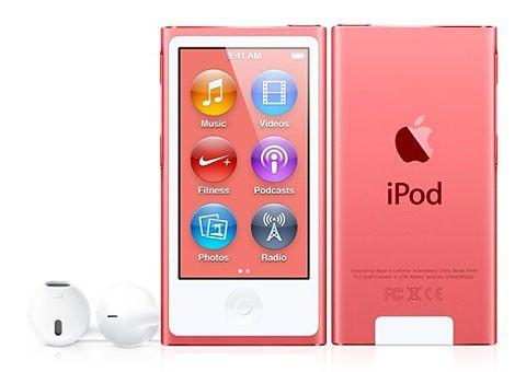 MP3 плеер APPLE iPod nano 7 flash 16Гб розовый [md475]