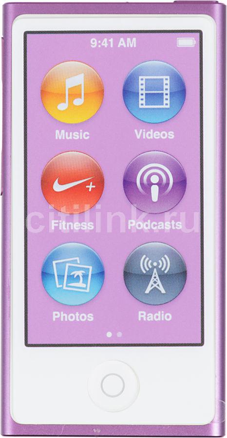 MP3 плеер APPLE iPod nano 7 flash 16Гб пурпурный [md479ru/a]