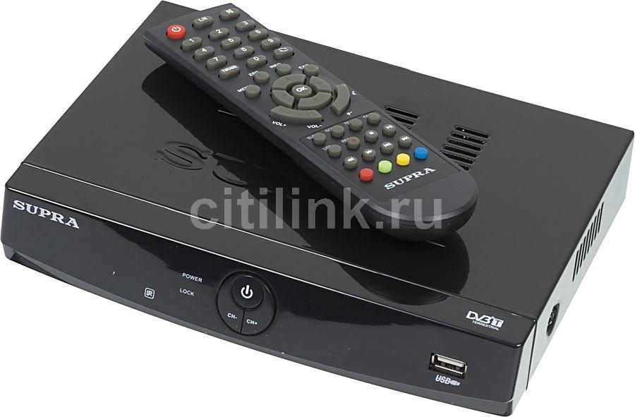Ресивер DVB-T2 SUPRA SDT-92,  черный
