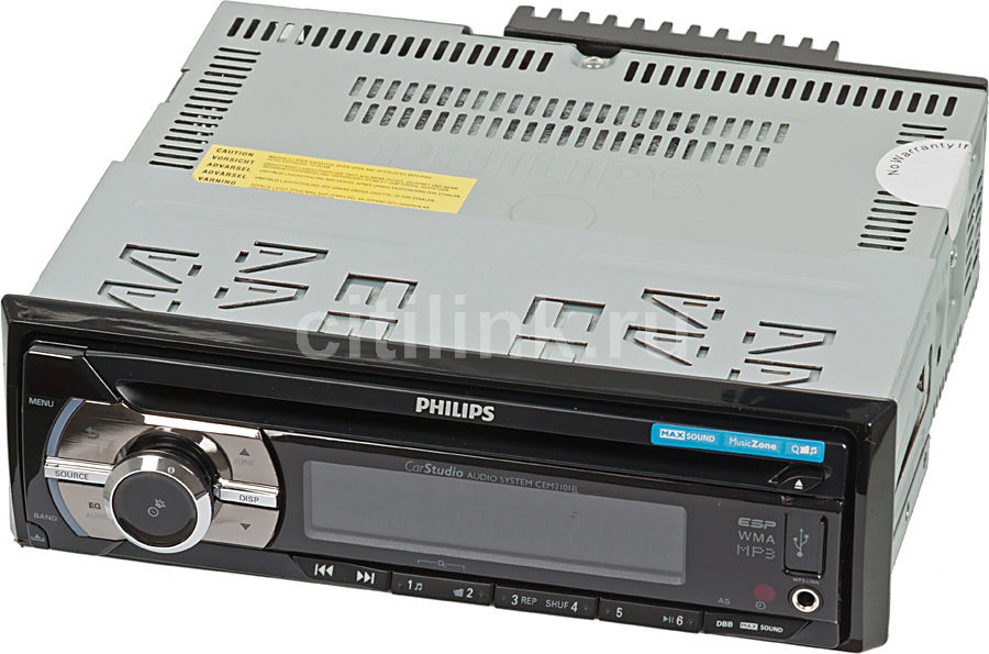 Автомагнитола PHILIPS CEM2101R/51,  USB