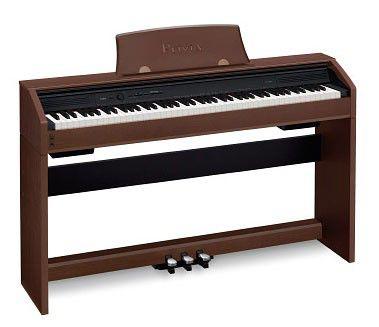 Цифровое фортепиано PRIVIA CASIO PX-750BN, 88, полновзвешенная, полноразмерные, 128, коричневый