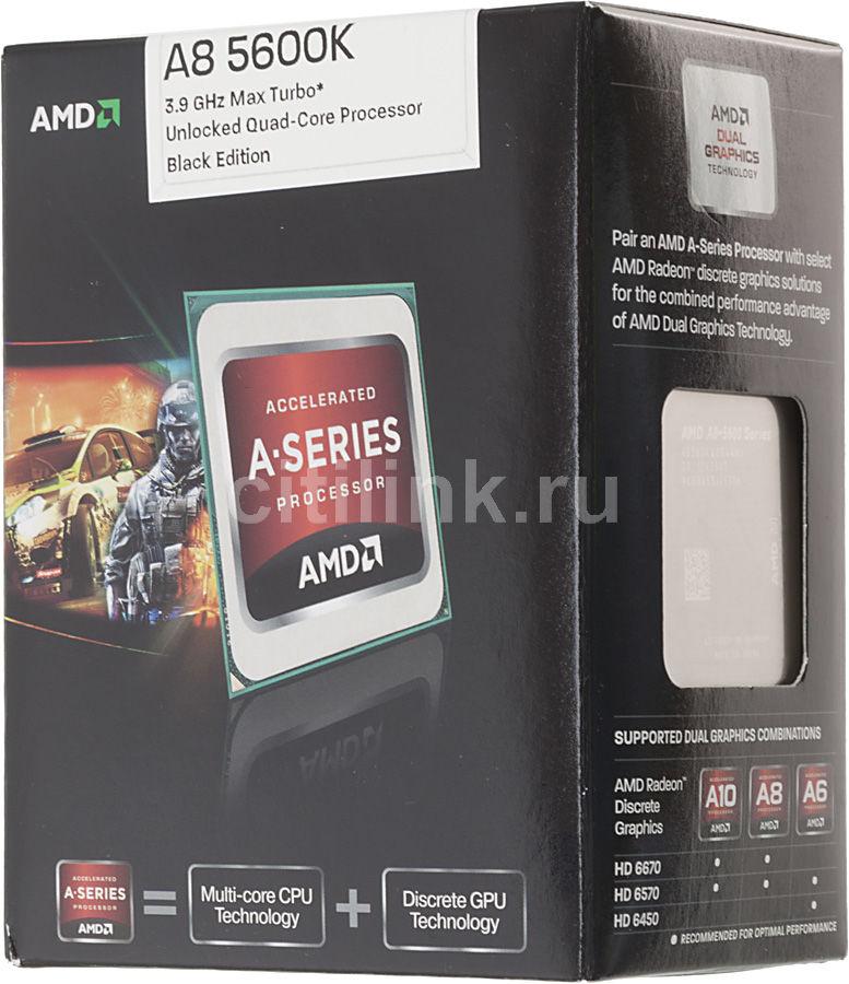 Процессор AMD A8 5600K, SocketFM2 BOX [ad560kwohjbox]