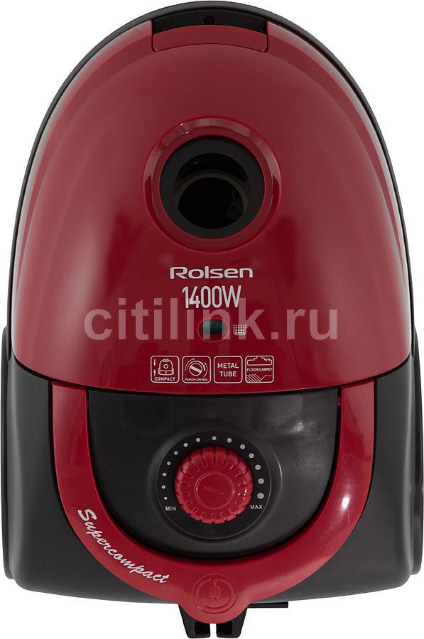 Пылесос ROLSEN T-1943MS, 1400Вт, красный
