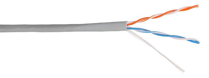 Кабель информ. Lanmaster (NM-UTP5E2PR-CU) кат.5е U/UTP 2X2 PVC внутр. 305м сер.