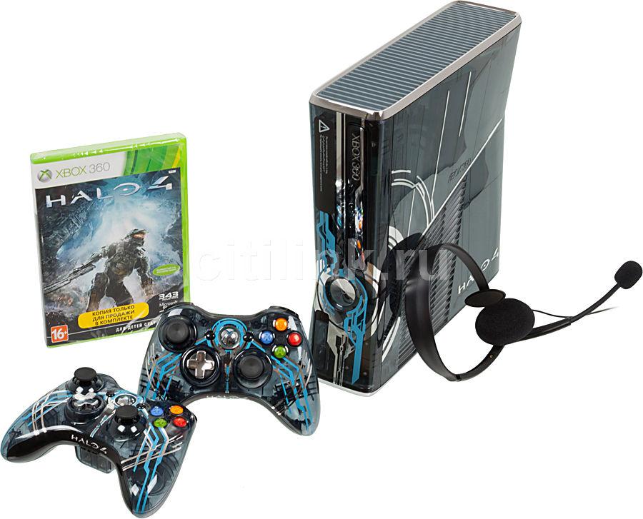 Игровая консоль MICROSOFT Xbox 360 S4K-00077, черный