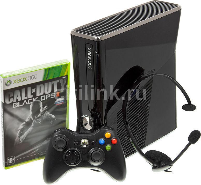 Игровая консоль MICROSOFT Xbox 360 S2G-00053, черный