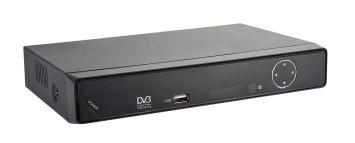 Ресивер DVB-T2 POLAR DT-1002,  черный