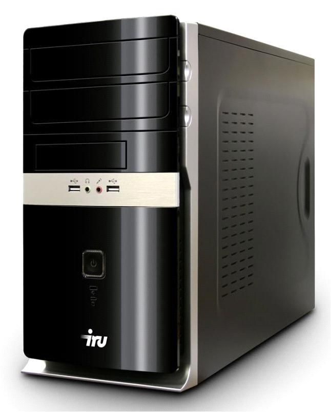 Компьютер  IRU Home 310,  Intel  Core i3  2130,  DDR3 4Гб, 500Гб,  nVIDIA GeForce GT630 - 2048 Мб,  DVD-RW,  CR,  Windows 8,  черный