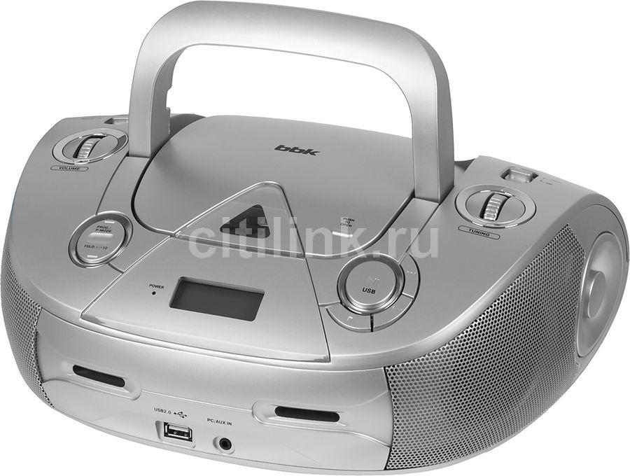 Аудиомагнитола BBK BX318U,  серебристый