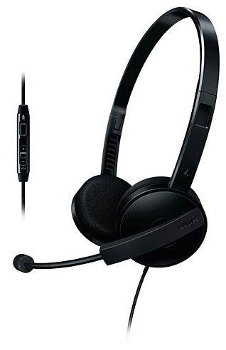 Наушники с микрофоном PHILIPS SHM3560/10,  накладные, черный