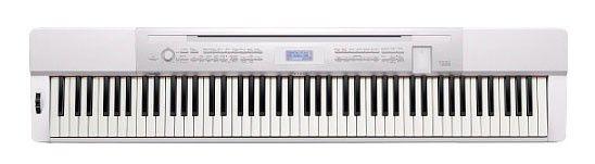 Цифровое фортепиано CASIO PX-350MWE, 88, невзвешенная, полноразмерные, 128, белый