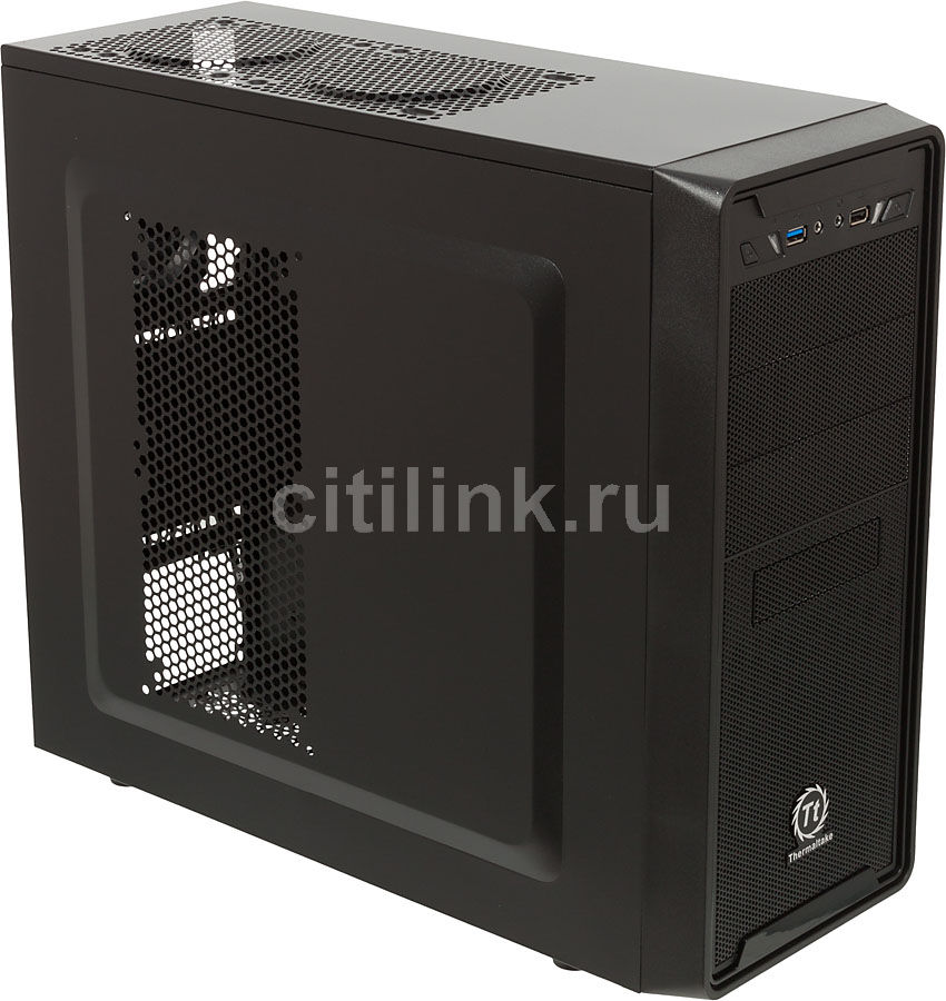 Корпус ATX THERMALTAKE Versa G2, Midi-Tower, без БП,  черный