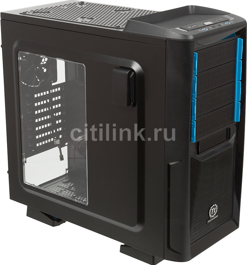 Корпус ATX THERMALTAKE Chaser A41 VP200A1W2N, Midi-Tower, без БП,  черный